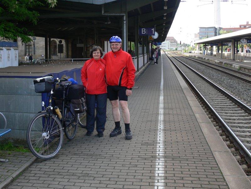 Abfahrt in Erlangen